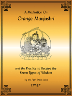 A Meditation on Orange Manjushri eBook
