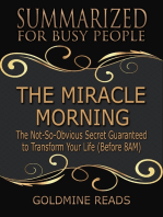 The Miracle Morning - Summarized for Busy People