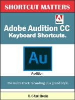 Adobe Audition CC Keyboard Shortcuts.