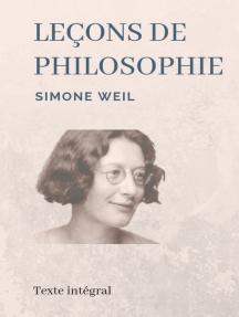 Leçons de philosophie: Les entretiens socratiques de Simone Weil