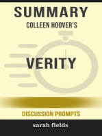 Summary of Verity by Colleen Hoover (Discussion Prompts)