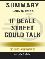 Summary of If Beale Street Could Talk by James Baldwin (Discussion Prompts)