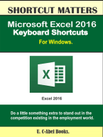 Microsoft Excel 2016 Keyboard Shortcuts For Windows