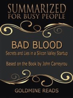 Bad Blood - Summarized for Busy People