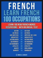 French - Learn French - 100 Words - Occupations