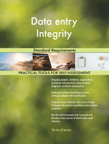 Data entry Integrity Standard Requirements