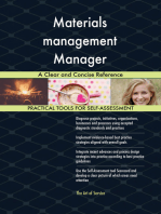 Materials management Manager A Clear and Concise Reference