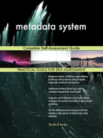 metadata system Complete Self-Assessment Guide