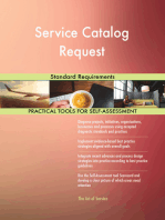 Service Catalog Request Standard Requirements
