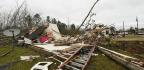 Tornado Leaves Behind Trail Of Destruction