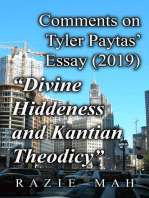 "Comments on Tyler Paytas' Essay (2019) ""Divine Hiddenness as Kantian Theodicy"""