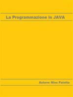 La Programmazione in JAVA