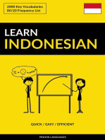 Learn Indonesian: Quick / Easy / Efficient: 2000 Key Vocabularies
