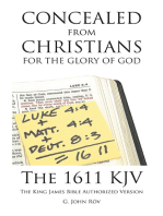 Concealed from Christians for the Glory of God