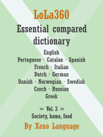 LoLa360 Essential Compared Dictionary: Vol. 3: Society, Home, Food