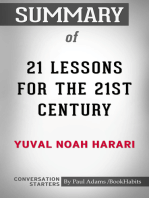 Summary of 21 Lessons for the 21st Century by Yuval Noah Harari   Conversation Starters