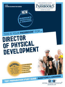 Director of Physical Development: Passbooks Study Guide