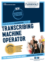 Transcribing Machine Operator