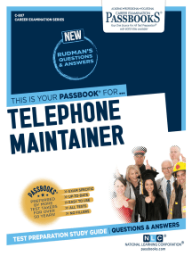 Telephone Maintainer: Passbooks Study Guide