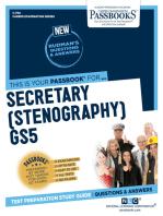 Secretary (Stenography) GS5