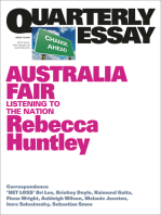 Quarterly Essay 73 Australia Fair
