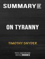Summary of On Tyranny