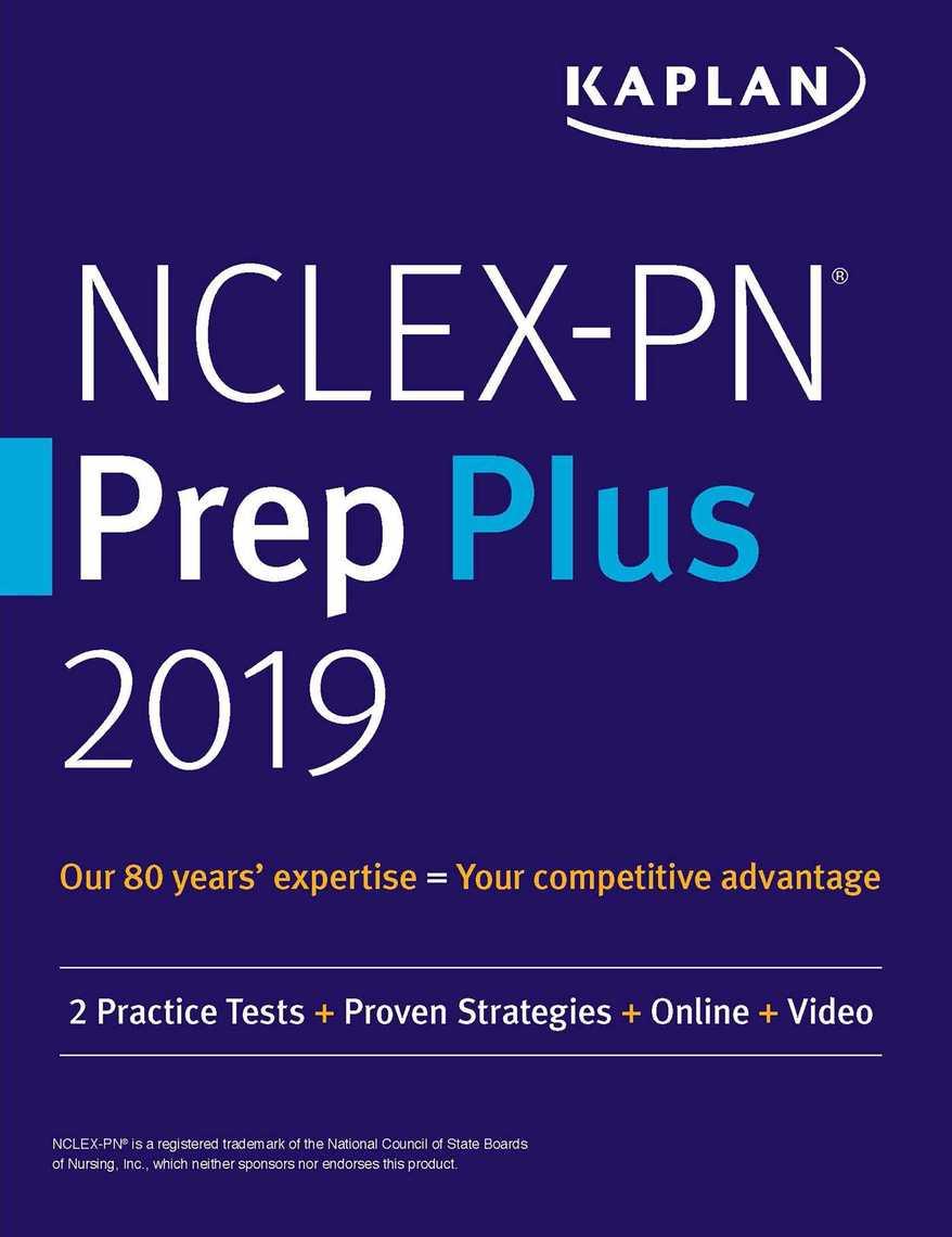 NCLEX-PN Prep Plus 2019 by Kaplan Nursing - Read Online