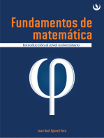 Fundamentos de matemática: Introducción al nivel universitario