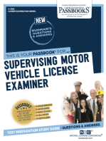 Supervising Motor Vehicle License Examiner