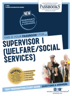 Supervisor I (Welfare/Social Services)