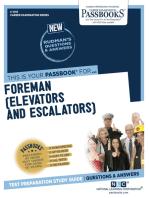 Foreman (Elevators and Escalators)