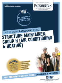Structure Maintainer, Group H (Air Conditioning & Heating): Passbooks Study Guide