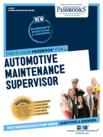 Automotive Maintenance Supervisor
