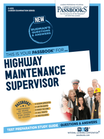 Highway Maintenance Supervisor: Passbooks Study Guide