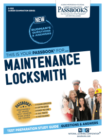 Maintenance Locksmith: Passbooks Study Guide