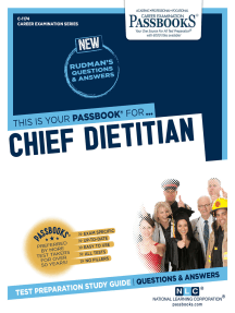 Chief Dietitian: Passbooks Study Guide