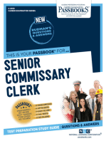 Senior Commissary Clerk