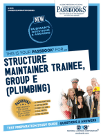 Structure Maintainer Trainee, Group E (Plumbing)