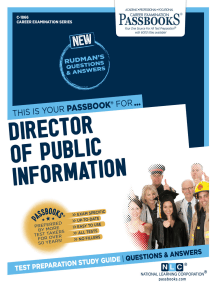 Director of Public Information: Passbooks Study Guide