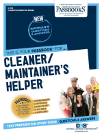 Cleaner/Maintainer's Helper