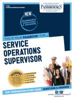 Service Operations Supervisor