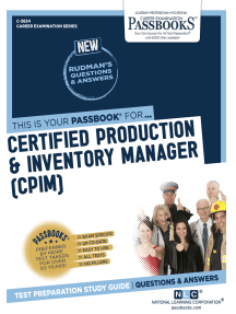 Certified Production & Inventory Manager (CPIM): Passbooks Study Guide