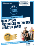 Qualifying Resources Recovery Operator (QRO)