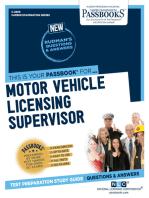 Motor Vehicle Licensing Supervisor