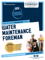 Water Maintenance Foreman