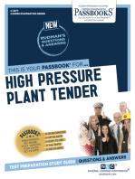 High Pressure Plant Tender