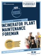 Incinerator Plant Maintenance Foreman