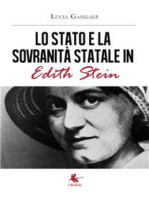 Lo Stato e la sovranità statale in Edith Stein