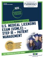 U.S. MEDICAL LICENSING EXAM (USMLE) STEP III – Patient Management