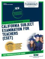 CALIFORNIA SUBJECT EXAMINATION FOR TEACHERS (CSET)
